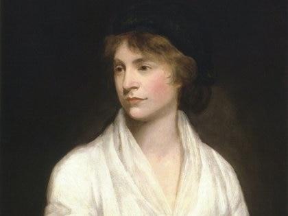 Mary Wollstonecraft,pionera feminista, escritora, pensadora. (Retrato de John Opie)