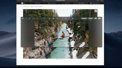 La captura de imagen también se renovó y facilitas varias opciones de edición rápida