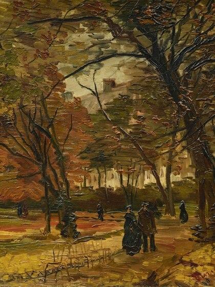 """Van Gogh, """"People Stroling in a park in París"""""""