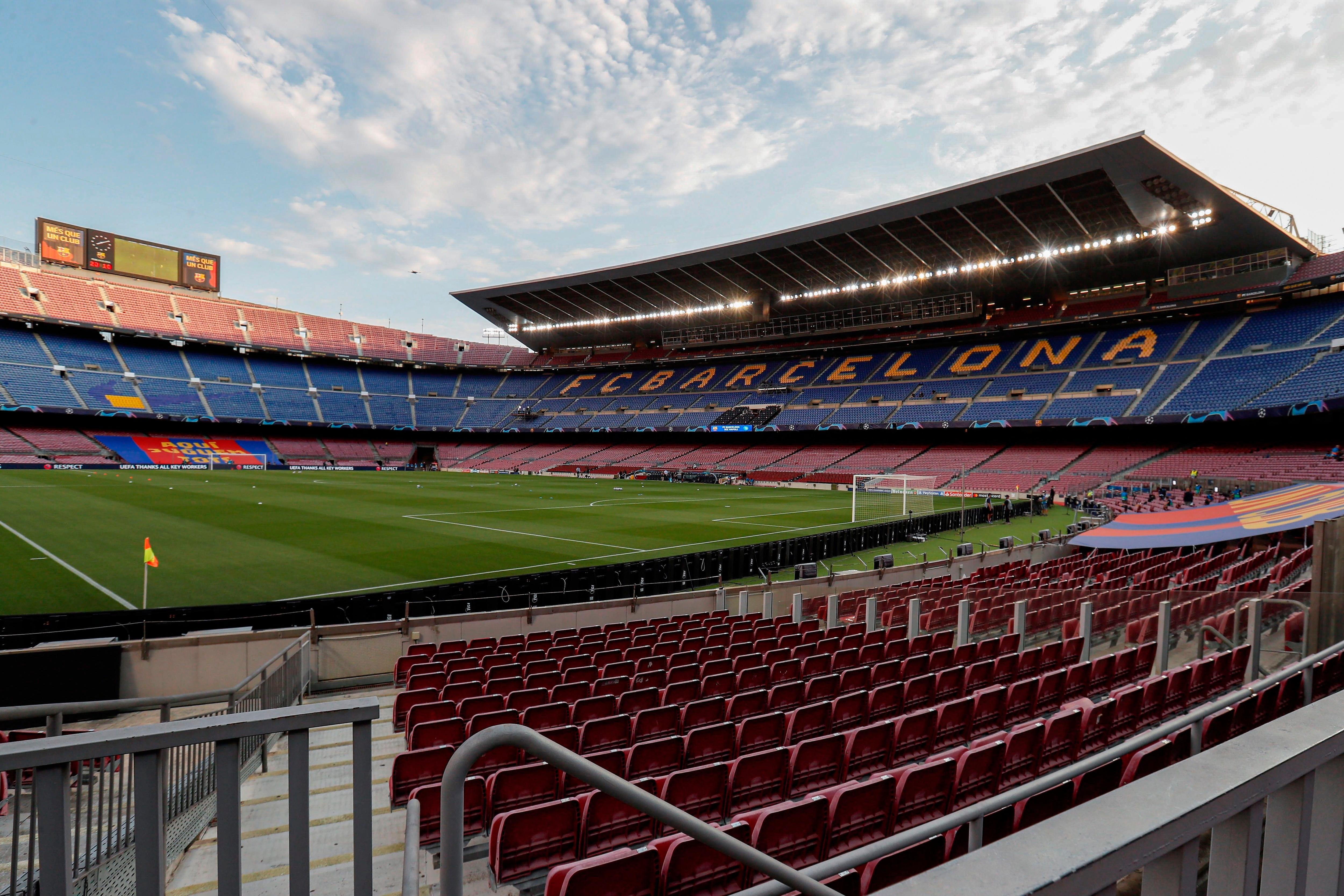 El Camp Nou aguarda el partido de Champions League frente al Bayern Munich (Foto: EFE)