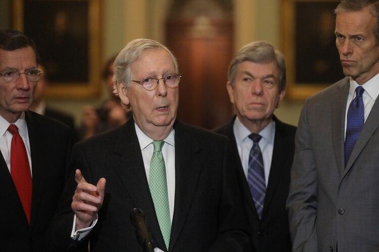 El líder de la mayoría republicana en el Senado de Estados Unidos, Mitch McConnell (REUTERS/Jonathan Ernst)