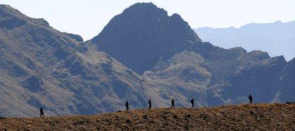 Soldados en la frontera entre China y la India (EPA/STR/Archivo)