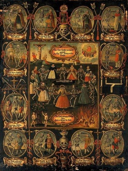 Danza macabra, de alrededor del 1700 en Alemania, anónima