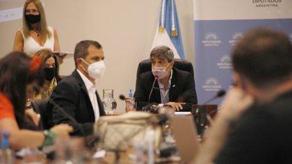 Pablo Yedlin junto a Eduardo 'Bali' Bucca en la última reunión de la comisión de Salud @pyedlin