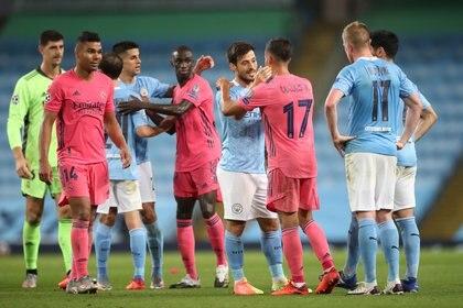 Partido entre el Manchester City y el Real Madrid, miembros de la nueva Superliga (Reuters)