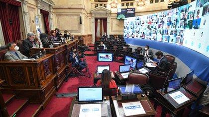 El 10 de diciembre, el mismo día que los diputados la daban media sanción a la Interrupción Voluntaria del Embarazo (IVE), los senadores la transformaron en ley la quita de coparticipación a CABA por 40 votos a 25 (FOTO: Charly Diaz Azcue / Comunicacion Senado)
