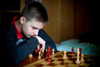 Richard Rapport, el más joven Gran Maestro húngaro de la historia (lo fue con 13 años y 11 meses). EFE/Peter Kollanyi/Archivo
