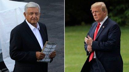 López Obrador y Donald Trump. (Foto: Archivo Infobae)