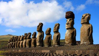 La Isla de Pascua y sus estatuas Moai son lo más reconocido de esta Isla