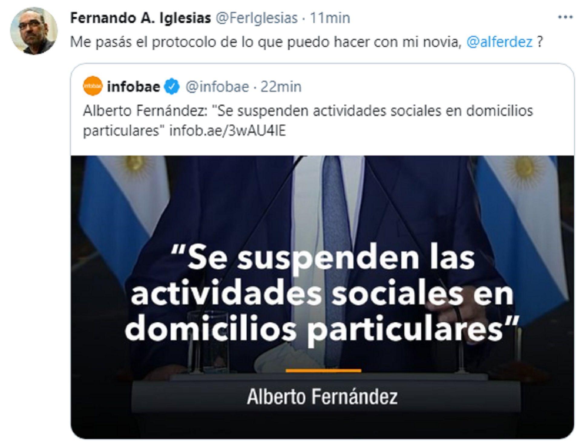 Fernando Iglesias - Nuevas restricciones