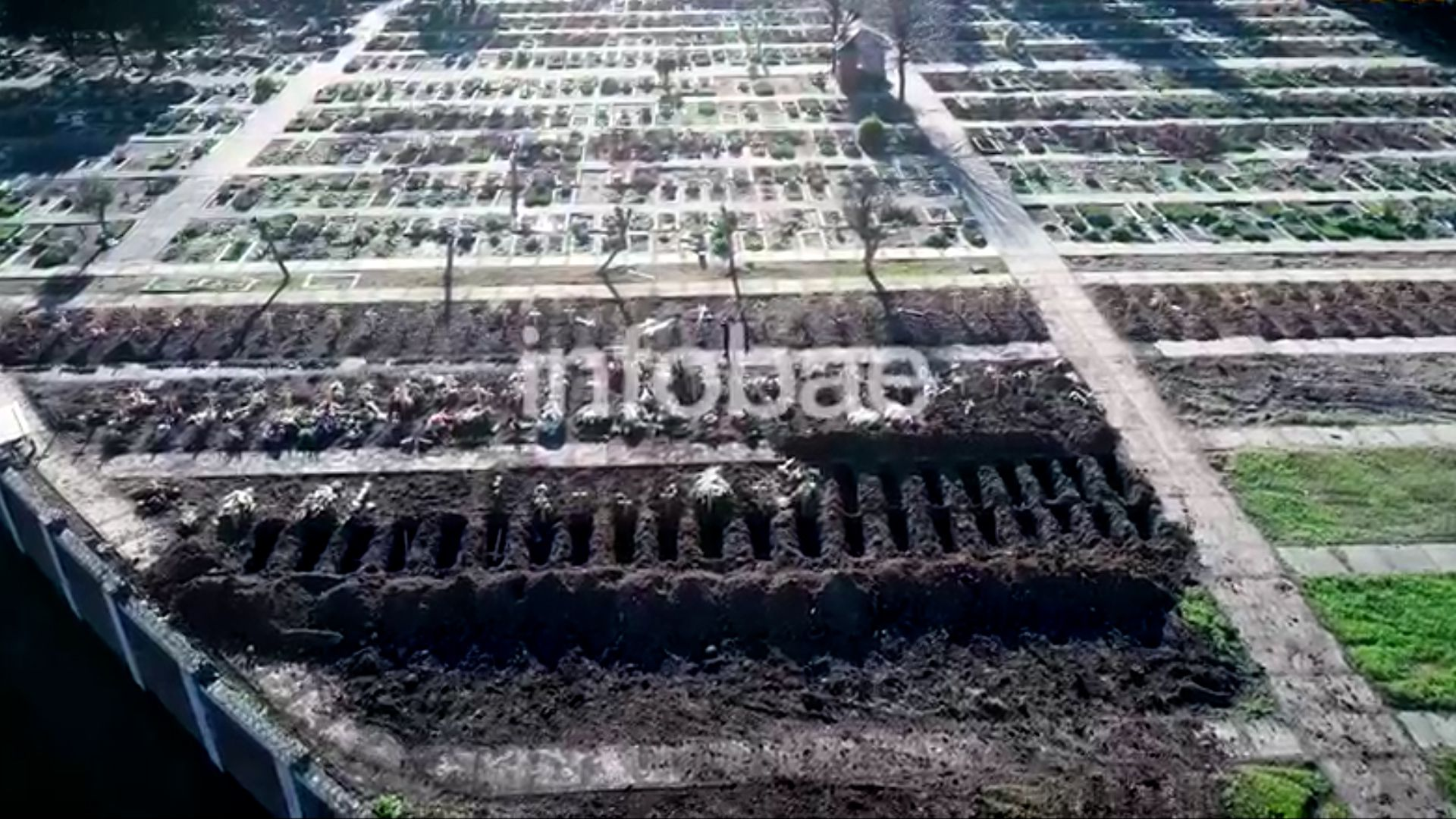 tumbas cementerio chacarita y flores por covid