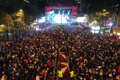 180 mil personas asistieron a los festejos de Año Nuevo en Paseo de la Reforma (Foto: Secretaría de Cultura de la Ciudad de México @CulturaCiudadMx)