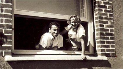 Adolf Dassler y su esposa