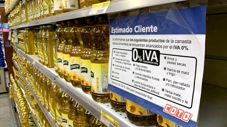 La medida impactó en los precios de los supermercados