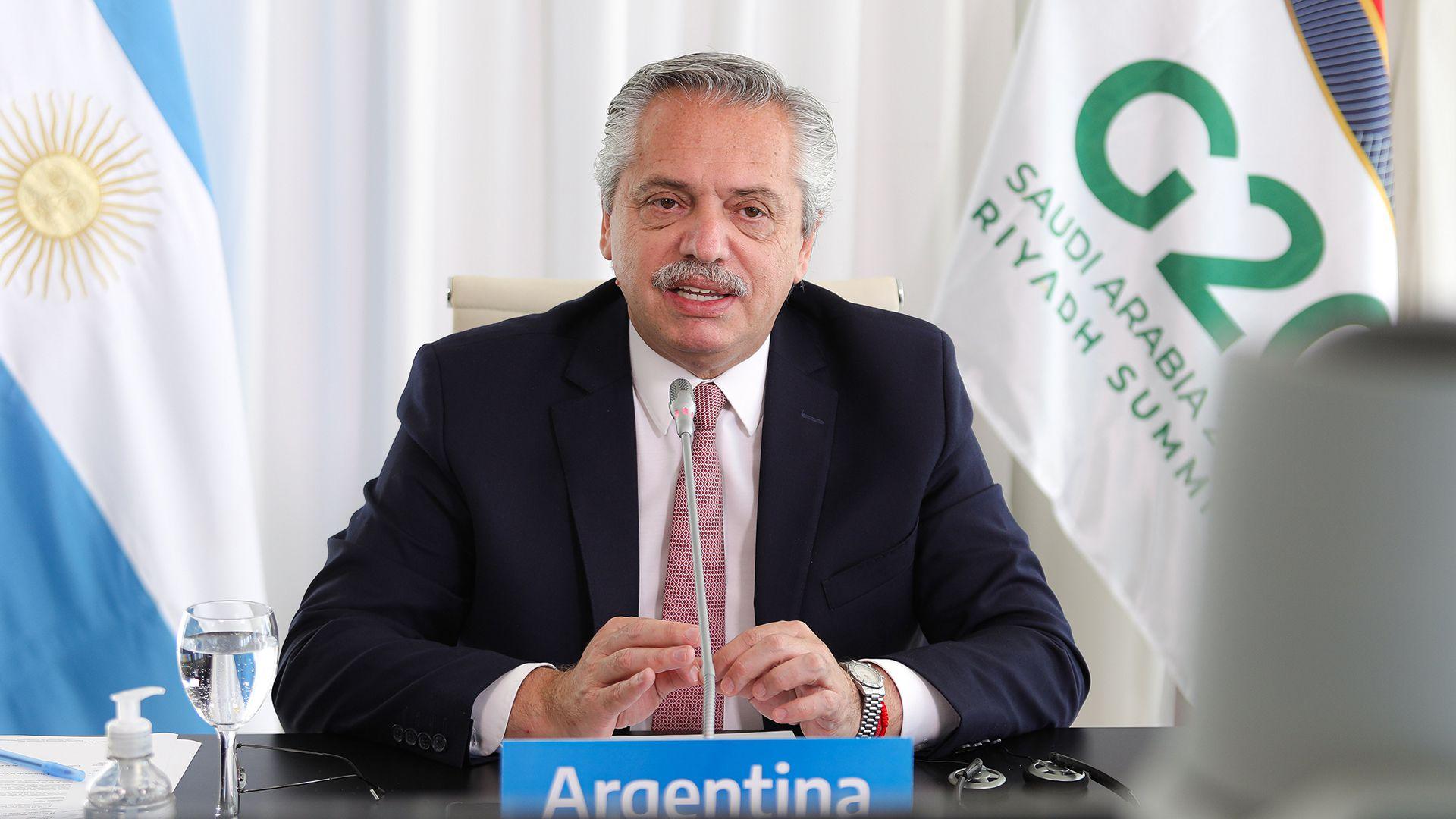 Segunda participación de Alberto Fernández en el G20 2020