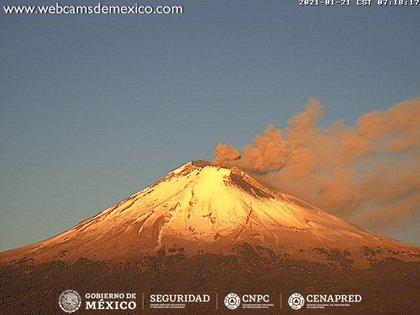 El Popocatépetl es uno de los 42 volcanes activos en México (Foto: CENAPRED)