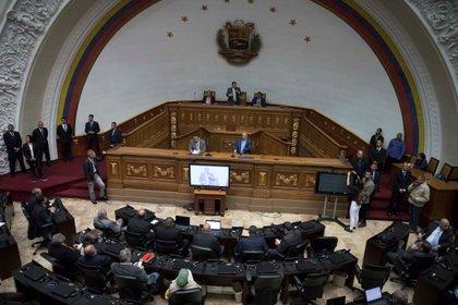 El hemiciclo de la Asamblea Nacional de Venezuela (EFE/ Rayner Peña/Archivo)
