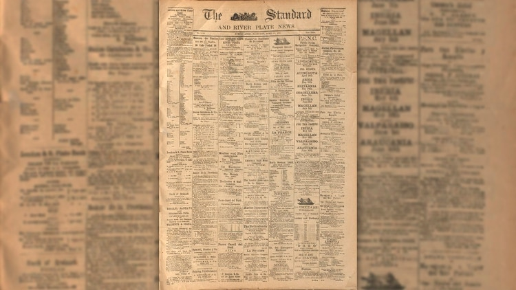 """The Standard and the River Plate News"", desde RODNA se puede acceder a ejemplares de diarios de 1880."