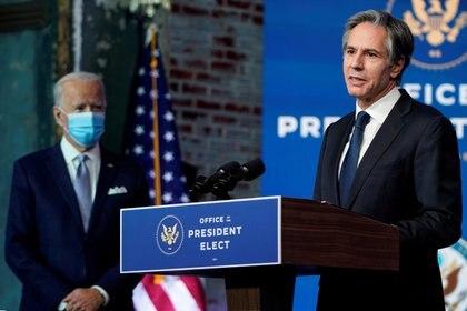 Blinken habla mientras el presidente Biden anuncia sus nominados y nombramientos de seguridad nacional (Foto: Reuters)