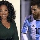 Oprah Winfrey y Lionel Messi