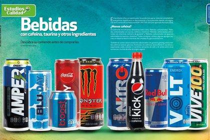 Bebidas con cafeína, taurina y otros ingredientes, comúnmente conocidas como bebidas energetizantes (Foto: Procuraduría Federal del Consumidor)