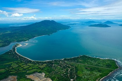 Vista aérea del Golfo de Fonseca