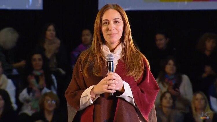 Vidal, en una apuesta por retener el voto femenino