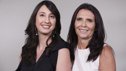 Alejandra Molina y Paula Casati, ambas científicas investigadoras.