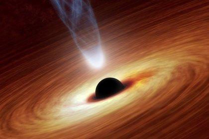 Representación de un agujero negro (NASA)