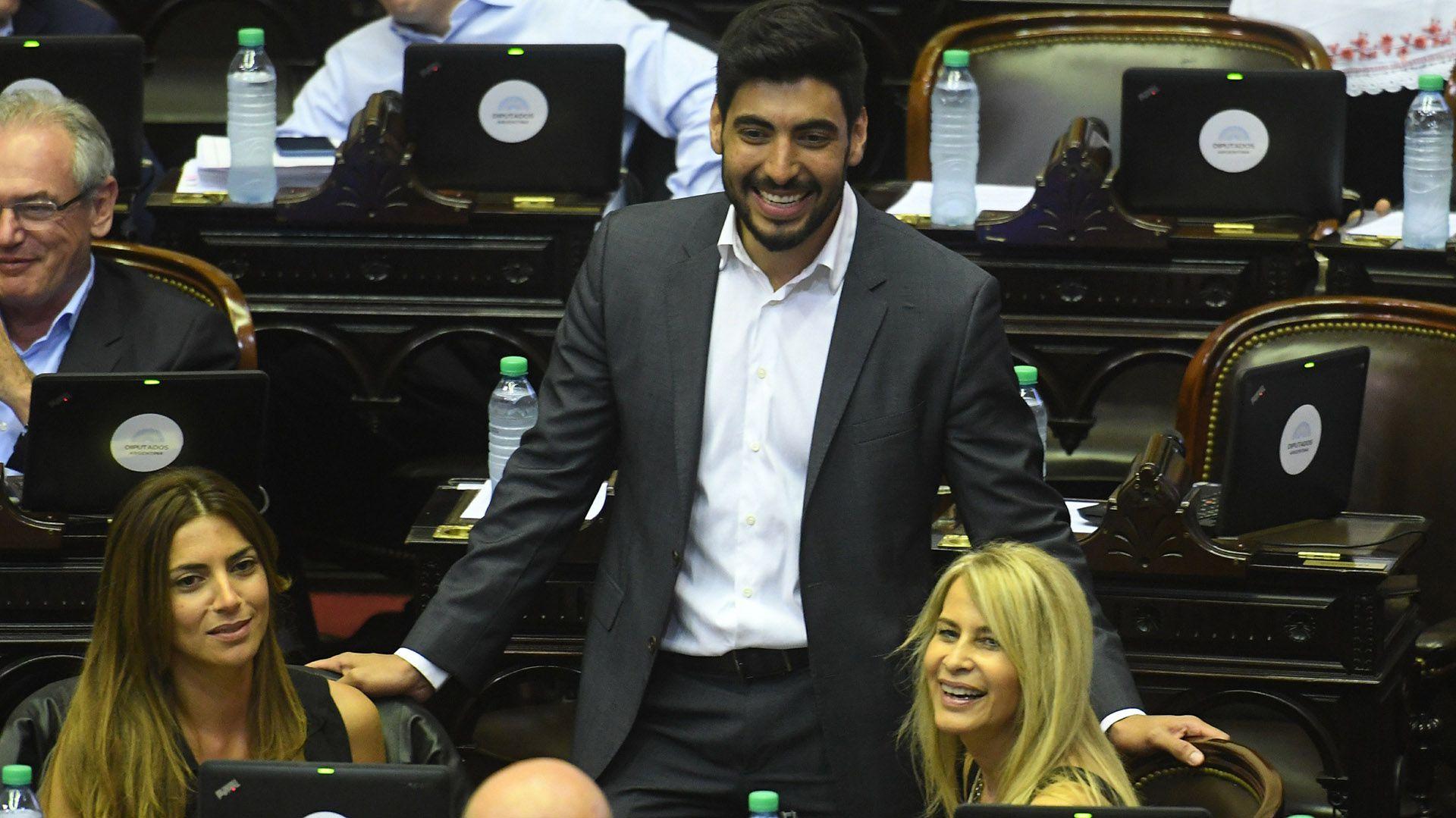 Facundo Moyano, en el recinto de la Cámara de Diputados