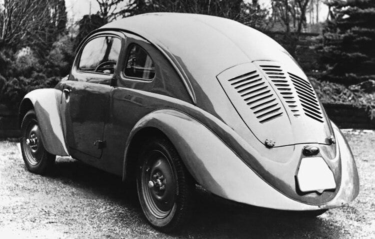 El Tatra T87, del cual se tomaron trazos para la creación del Escarabajo (Foto: Prensa VW)