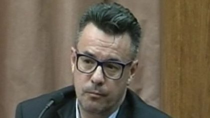 Gustavo Simeonoff, el segundo acusado en el juicio oral.