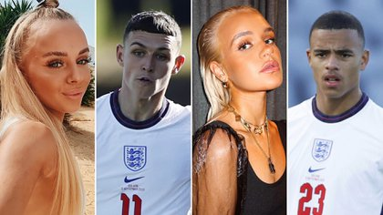 Los jugadores y las modelos implicadas (Phil Foden, Mason Greenwood, Nadia Sif Lindal Gunnarsdottir y Lara Clausen