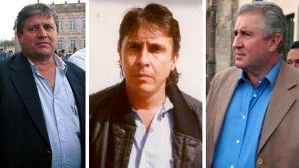 Jorge Luis, Juan David y Fabio Ochoa Vásquez.