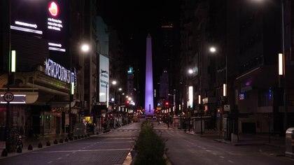 Buenos Aires, casi sin tránsito (foto: Franco Fafasuli)