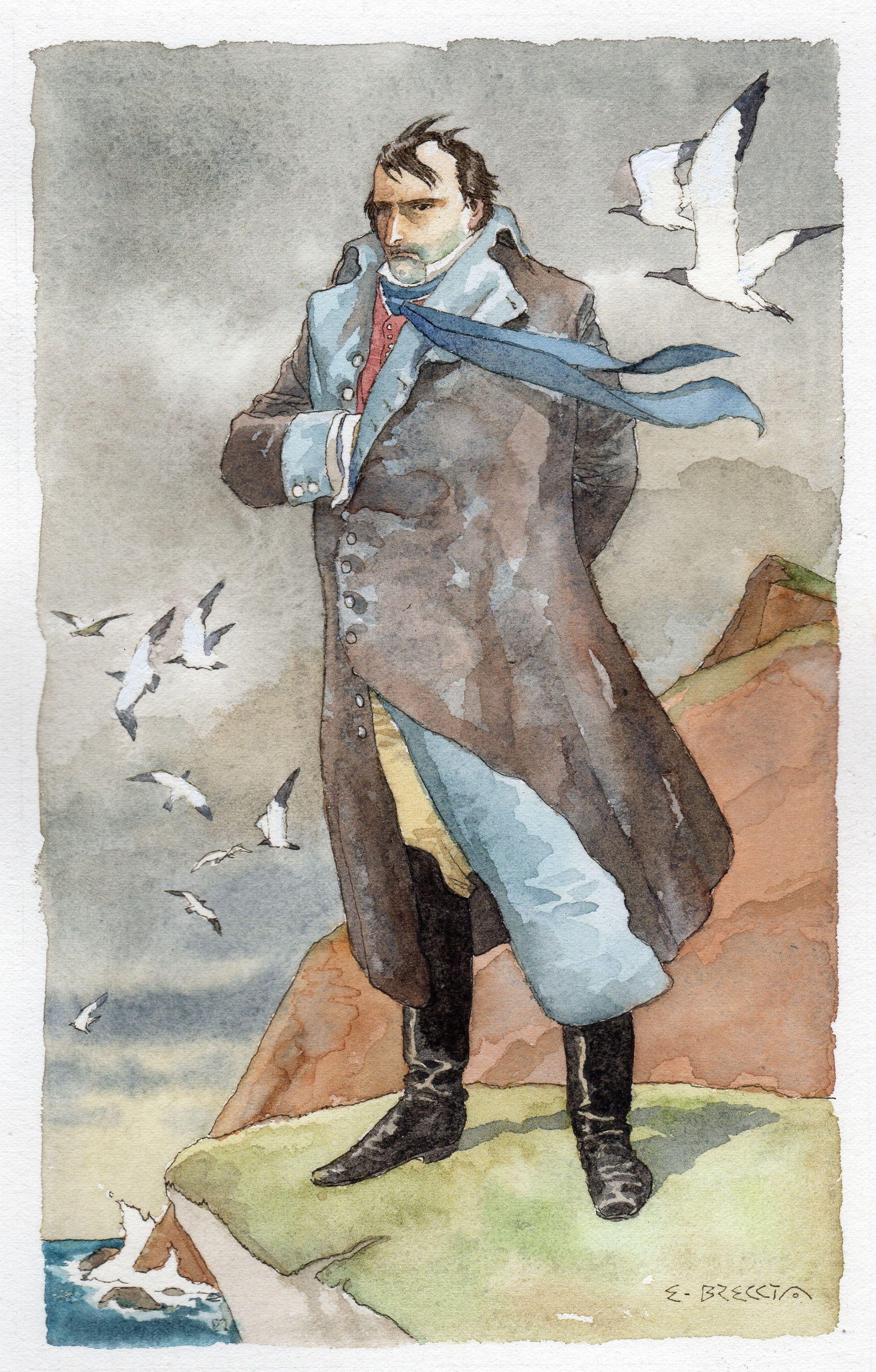 Napoleón en Santa Elena (Enrique Breccia)