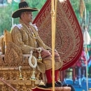 Mandatory Credit: Photo by People Picture/Willi Schneider/Shutterstock (10230878bi) King Maha Vajiralongkorn, or Rama X on the palanquin Crowning of King Rama X, Sutathasawat Castle, Bangkok, Thailand - 06 May 2019