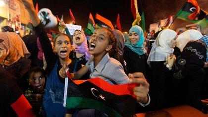 Mujeres en las revueltas de Libia, tras la huída del dictador Muammar Gaddafi.
