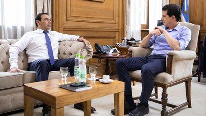 Valdés, reunido con el ministro del Interior, Eduardo Wado de Pedro