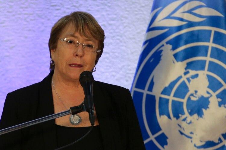 Las detenciones se registraron tras la visita de la alta comisionada para los derechos humanos de la ONU, Michelle Bachelet (Photo by CRISTIAN HERNANDEZ / AFP)