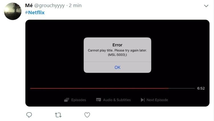 El servicio de streaming funciona con problemas en varias partes del mundo.