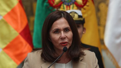 The Foreign Minister of the Interim Government of Bolivia, Karen Longaric.  Photo: EFE / Martin Alipaz