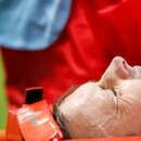 Soccer Football - World Cup - Group C - Peru vs Denmark - Mordovia Arena, Saransk, Russia - June 16, 2018 Denmark's William Kvist looks dejected as he is stretchered off the pitch after sustaining an injury REUTERS/Max Rossi