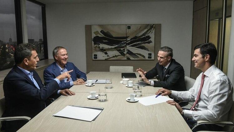 Massa, Schiaretti, Pichetto y Urtubey, los cuatro referentes de Alternativa Federal