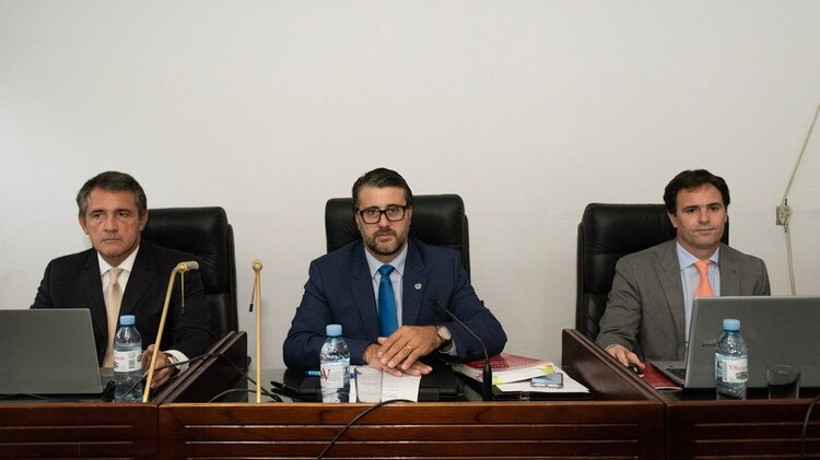 Los jueces del Tribunal Oral Penal Económico 1 (foto Adrian Escándar)