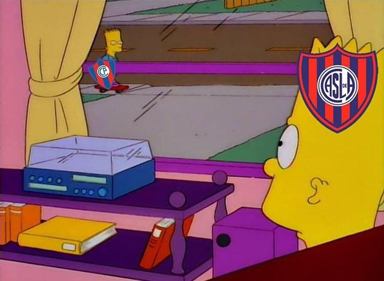 Bart Simpson y su hermano gemelo Hugo Simpson, son San Lorenzo y Cerro Porteño