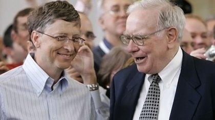 Mejores amigos: Bill Gates y Warren Buffett AP