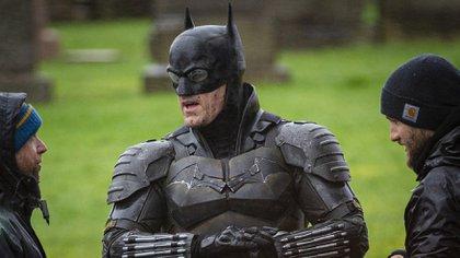 Quien aparece en las imágenes es un doble de acción con el traje de Batman. (Foto: Splash News/The Grosby Group)