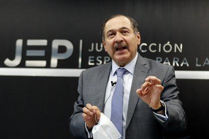 El presidente de la Jurisdicción Especial para la Paz (JEP), Eduardo Cifuentes Muñoz. EFE/Mauricio Dueñas Castañeda/Archivo