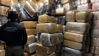Decomiso de cargamento de marihuana (Foto: EFE)